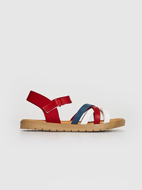 Kız Çocuk Renk Bloklu Çapraz Bant Sandalet - LC WAIKIKI
