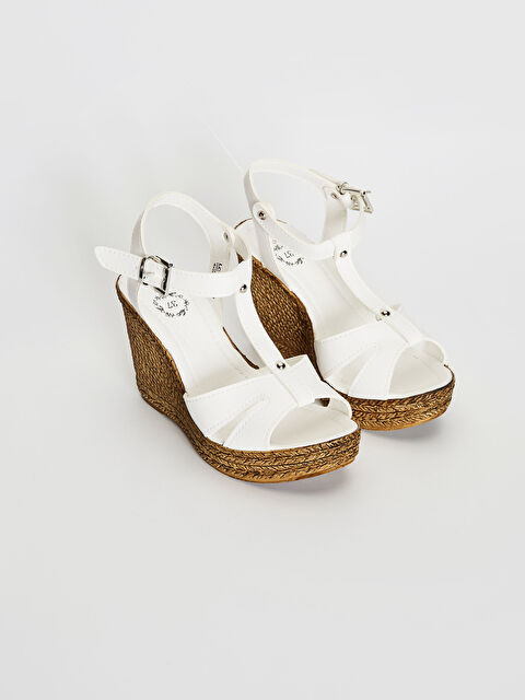 Kadın Dolgu Topuk T Bant Sandalet - LC WAIKIKI