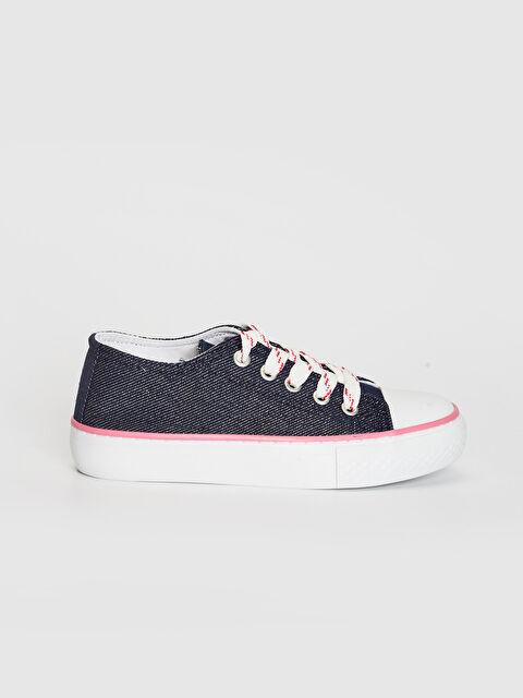 Kız Çocuk Bağcıklı Denim Sneaker - LC WAIKIKI