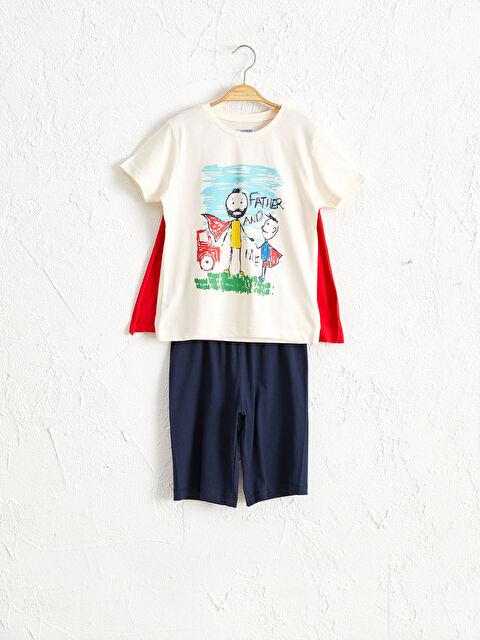 Erkek Çocuk Baskılı Pamuklu Pijama Takımı - LC WAIKIKI