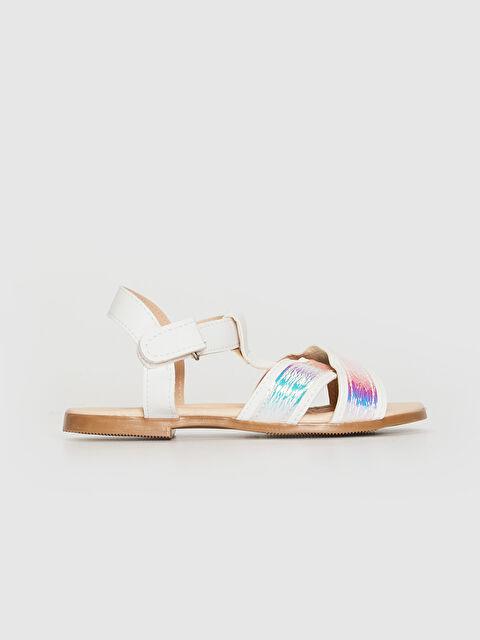Kız Çocuk Hologram Detay Çapraz Bant Sandalet - LC WAIKIKI