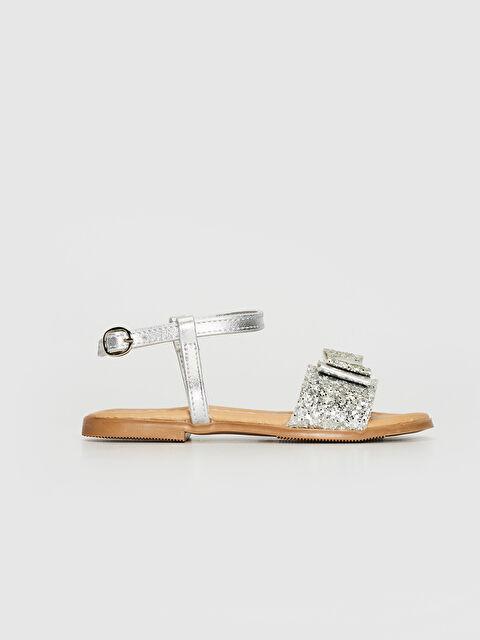 Kız Çocuk Fiyonk Detaylı Parlak Sandalet - LC WAIKIKI