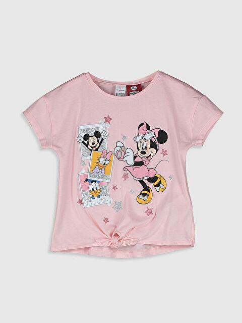 Kız Bebek Minnie ve Mickey Mouse Baskılı Tişört - LC WAIKIKI