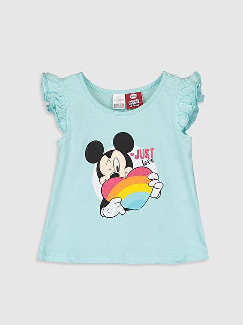 Kız Bebek Mickey ve Minnie Mouse Baskılı Tişört  - LC WAIKIKI