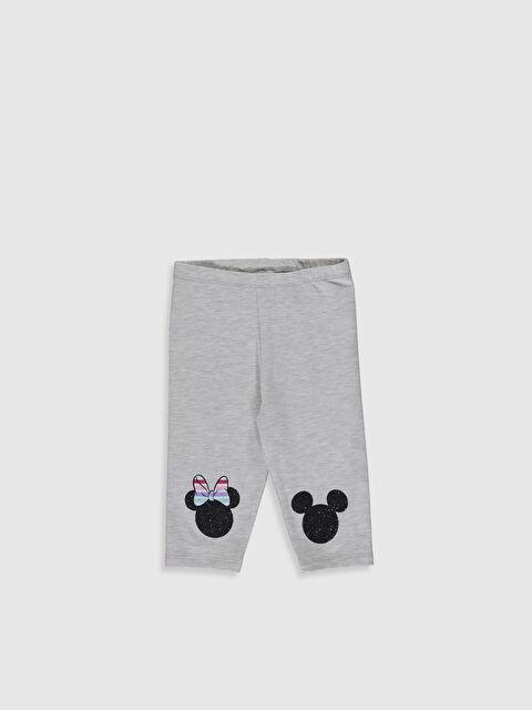 Kız Bebek Minnie Mouse Baskılı 3/4 Boy Tayt - LC WAIKIKI