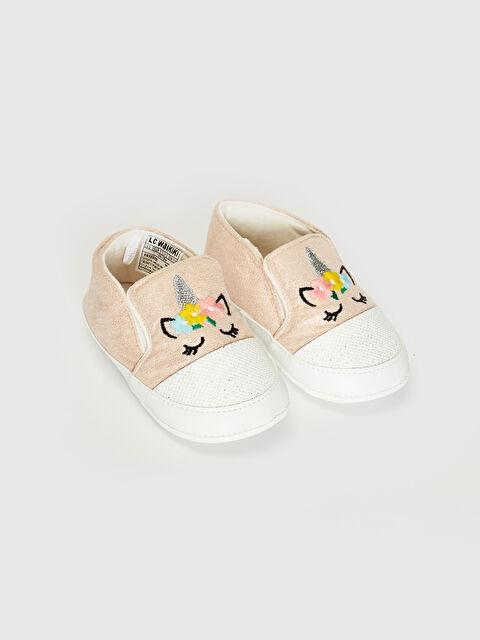 Kız Bebek Nakış Detaylı Yürüme Öncesi Ayakkabı - LC WAIKIKI