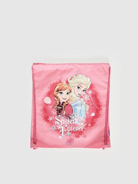 Kız Çocuk Frozen Baskılı Büzgülü Sırt Çantası - LC WAIKIKI