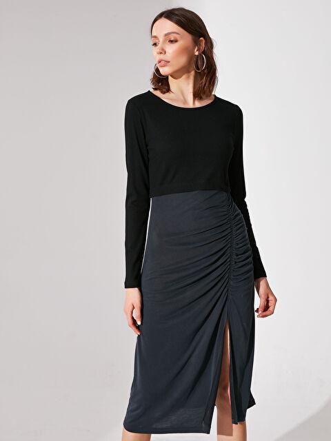 Re-SIS Yırtmaç Detaylı Elbise  - Markalar