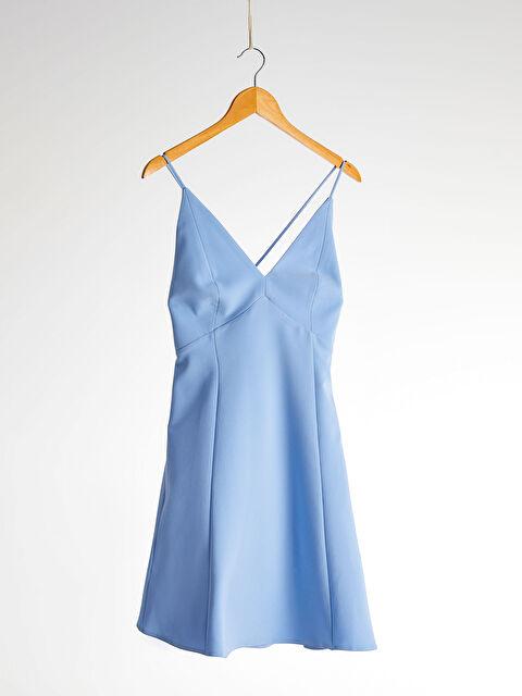 Appleline Beli Dekolte Detaylı Askılı Elbise - LC WAIKIKI