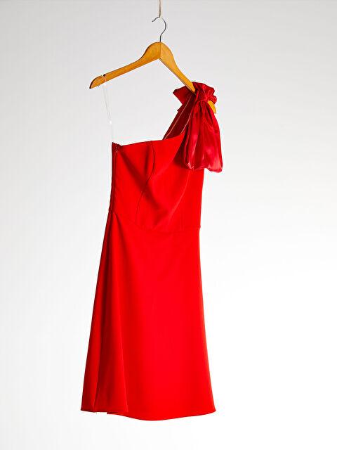 Appleline Tek Omuz Detaylı Elbise - LC WAIKIKI