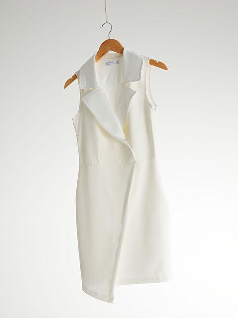 Mini Düz Kolsuz Düğün/Nikah Elbise - LC WAIKIKI