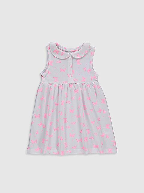 Kız Bebek Baskılı Pamuklu Elbise - LC WAIKIKI