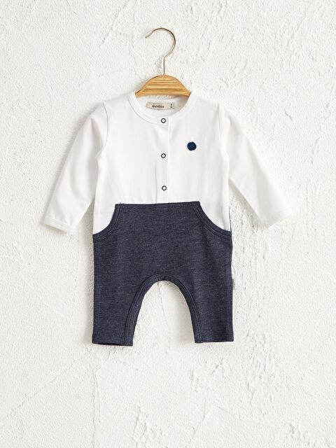 Antebies Organik Pamuklu Erkek Bebek Patikli Tulum - Markalar