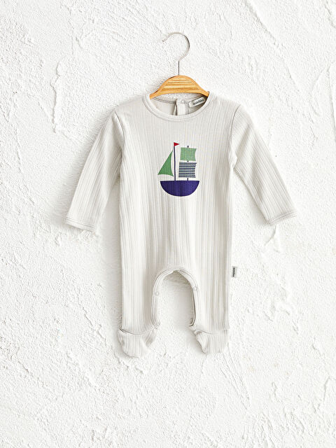 Antebies Organik Pamuklu Erkek Bebek Baskılı Çıtçıtlı Body - Markalar