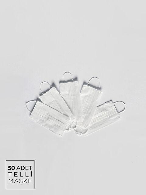 8-14 Yaş Çocuk - 3 katlı Lastik Halkalı Telli Yüz Maskesi 50'li - LC WAIKIKI