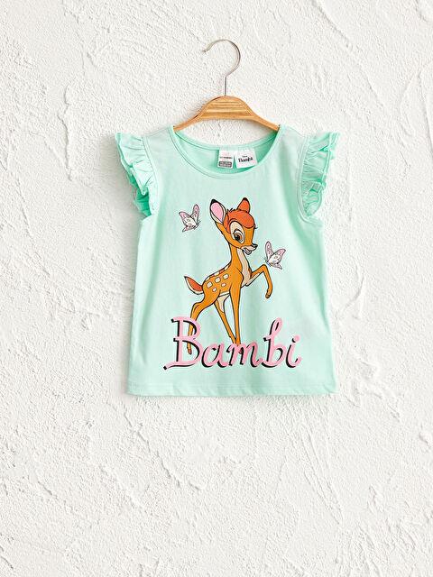 Kız Bebek Bambi Desenli Tişört - LC WAIKIKI