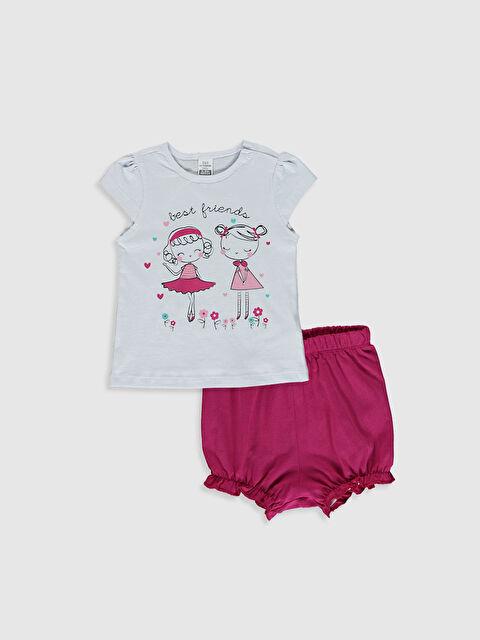 Kız Bebek Baskılı Pijama Takımı - LC WAIKIKI