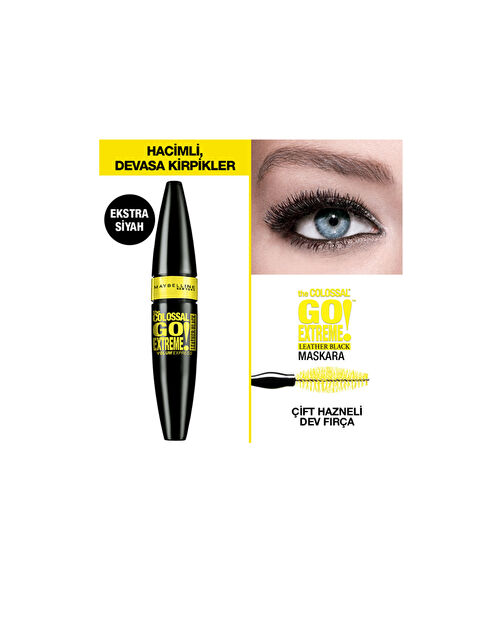 Maybelline New York The Colossal Go Extreme Leather Black Maskara - Markalar
