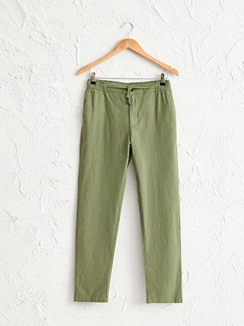 Slim Fit Keten Görünümlü Bilek Boy Pantolon - LC WAIKIKI