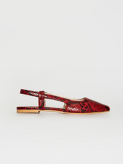 Kadın Yılan Derisi Görünümlü Babet Ayakkabı - LC WAIKIKI