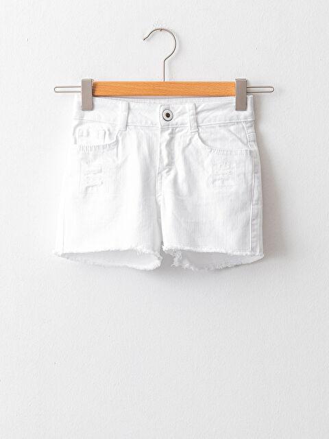 Basic Gabardine Girls Shorts - LC WAIKIKI
