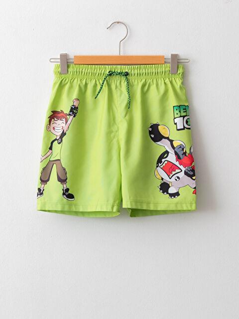 Ben 10 Printed Quick Drying Boy's Swim Shorts - LC WAIKIKI