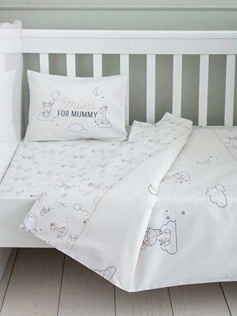 LCW GREEN Organic Double Sided Patterned Baby Duvet Cover Set - LCW HOME