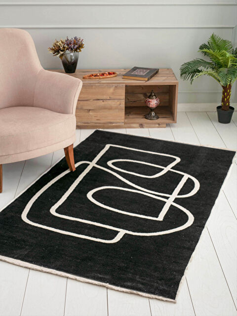 Double Sided Patterned Fringed Jacquard Carpet 120x180 Cm - LCW HOME