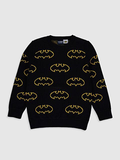 Erkek Çocuk Batman Desenli İnce Triko Kazak - LC WAIKIKI