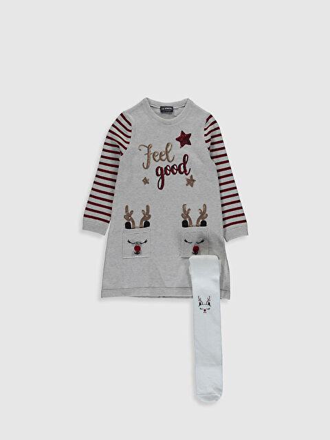 Kız Çocuk Triko Elbise ve Külotlu Çorap - LC WAIKIKI