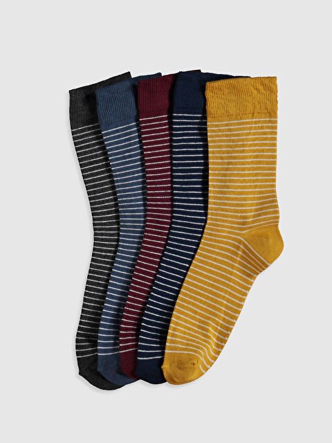 Çizgili Soket Çorap 5'li - LC WAIKIKI