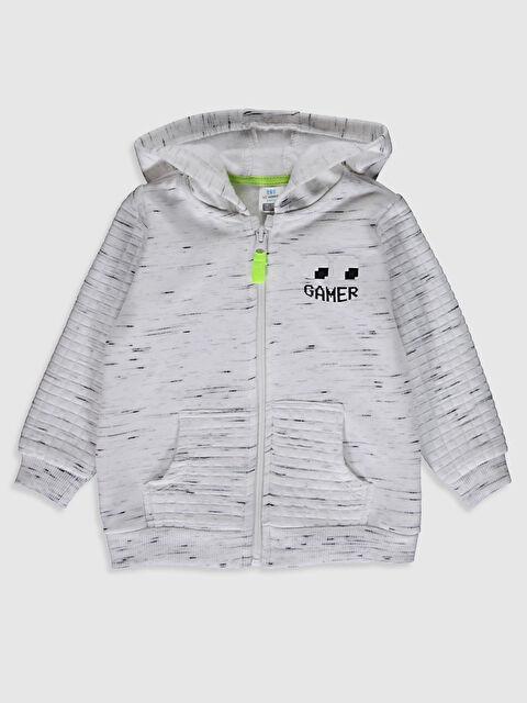 Erkek Bebek Fermuarlı Kapüşonlu Sweatshirt - LC WAIKIKI