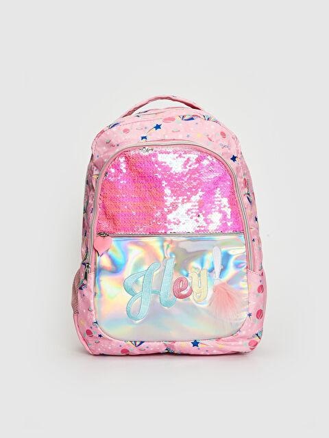 Kız Çocuk Pul Payetli Hologram Sırt Çantası - LC WAIKIKI