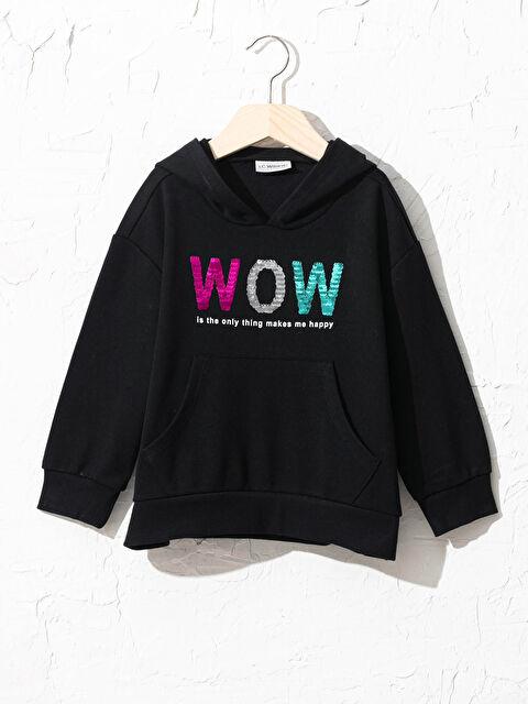 Kız Çocuk Pul İşlemeli Sweatshirt - LC WAIKIKI