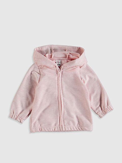 Kız Bebek Fermuarlı Kapüşonlu Sweatshirt - LC WAIKIKI