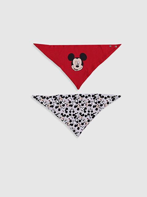 Erkek Bebek Mickey Mouse Baskılı Mama Önlüğü 2'li - LC WAIKIKI