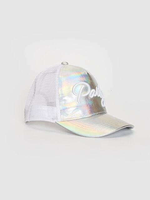 Kız Çocuk Yazı Nakışlı Hologram Şapka - LC WAIKIKI