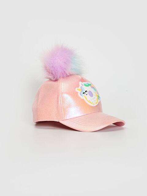 Kız Çocuk Ponponlu Parlak Şapka - LC WAIKIKI