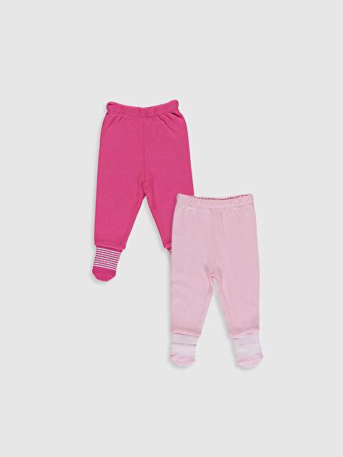 Kız Bebek Çoraplı Pijama Alt 2'li - LC WAIKIKI