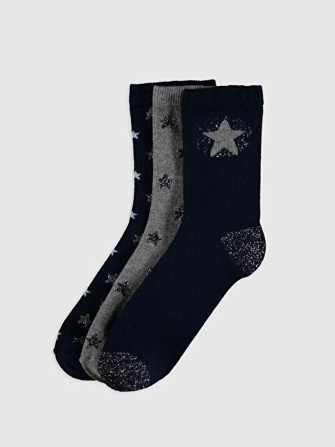 Desenli Soket Çorap 3'lü - LC WAIKIKI
