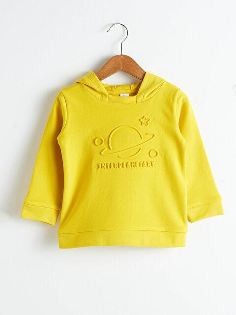 Erkek Bebek Baskılı Kapüşonlu Sweatshirt - LC WAIKIKI
