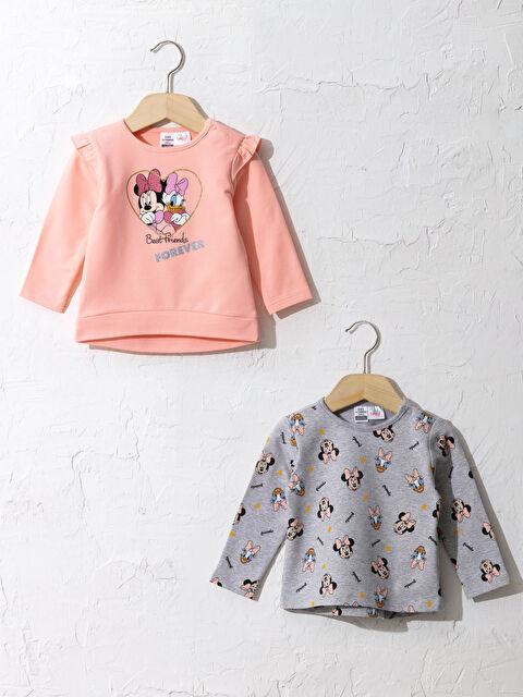 Kız Bebek Disney Karakterleri Baskılı Sweatshirt 2'li - LC WAIKIKI