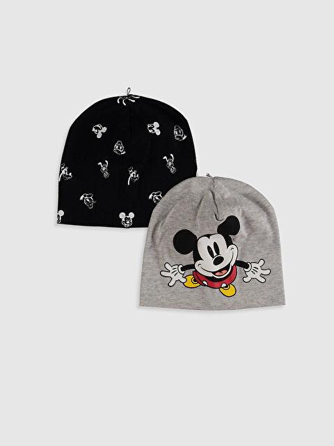 Erkek Bebek Mickey Mouse Baskılı Bere 2'li - LC WAIKIKI