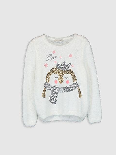 Kız Çocuk Desenli Triko Kazak - LC WAIKIKI