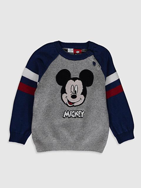 Erkek Bebek Mickey Mouse Baskılı Kazak - LC WAIKIKI