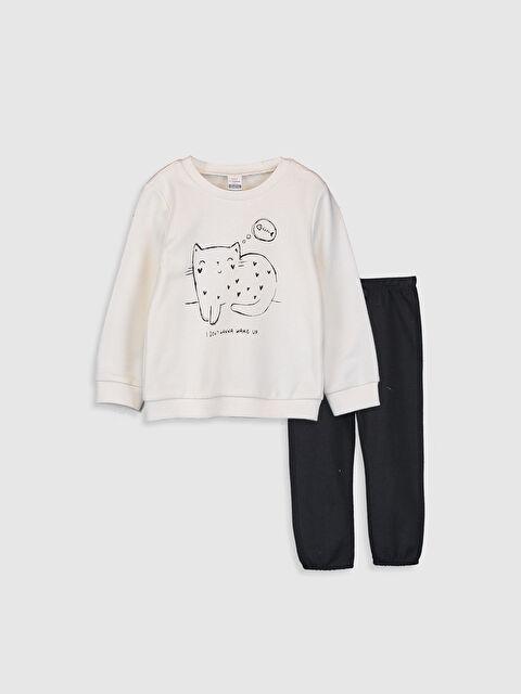 Kız Bebek Sweatshirt ve Pantolon - LC WAIKIKI