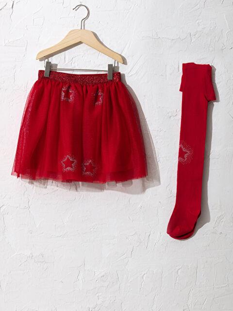 Kız Çocuk Etek ve Külotlu Çorap - LC WAIKIKI