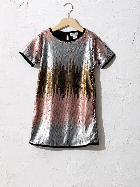 Kız Çocuk Çift Yönlü Payetli Elbise - LC WAIKIKI