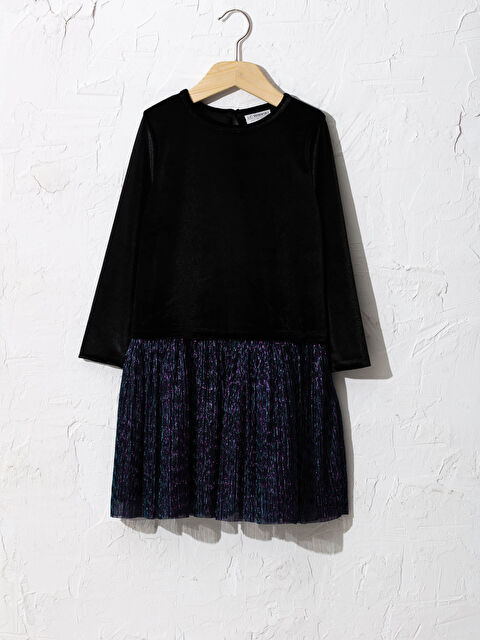 Kız Çocuk Kadife Elbise - LC WAIKIKI