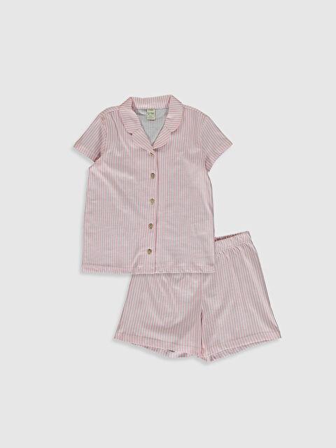 Kız Çocuk Organik Pamuklu Pijama Takımı - LC WAIKIKI